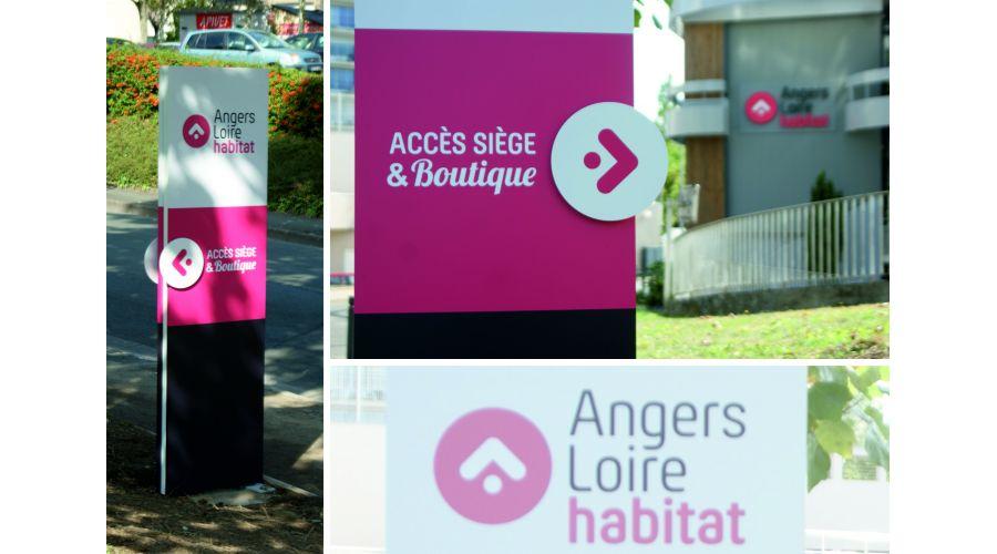 ANGERS LOIRE HABITAT Signalétique siège social